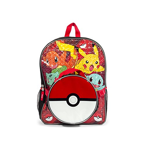 Pokemon Red Scare Again Backpack with Insulated Pokeball Lunch Kit