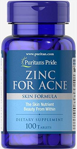 Puritans Orgullo de zinc para acné, 100 unidades