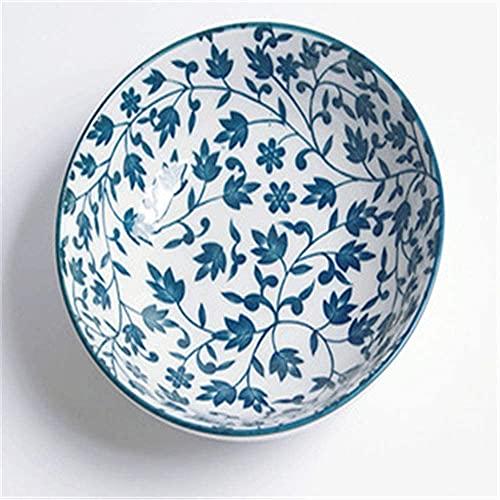 Cuencos de postre Tazones Gyhjgjapanese Estilo y viento Cuenco de cerámica de viento de 5.25 pulgadas Tazón de hilo Cerezo Bossom Bowl Bowl Weampware 13.5x4.5cm Ensaladeras