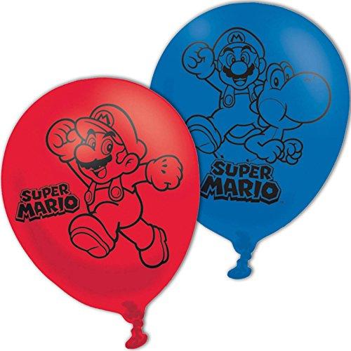 11-Inch Super Mario Bros 4 Sided Latex Balloons