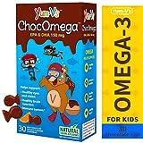 YumVs ChocOmega Orange Flavored Milk Chocolate, Fish-Shaped Vitamin Chewables (30Count), Omega-3 150mg (60mg DHA, 90mg EPA) Children's Daily Dietary Supplement, Kosher, Halal, Gluten Free