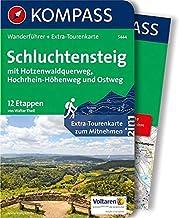 WF5444 Schluchtensteig, mit Hotzenwaldquerweg, Hochrhein-Höhenweg und Ostweg Kompass: Wandelgids met overzichtskaart: Wanderführer mit ... 12 Tagesetappen, GPX-Daten zum Download.