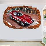 SJXWOL Wandtattoos Garage Auto Aufkleber 3D Art Wandbild Gästezimmer Office Shop Dekoration 56x65cm