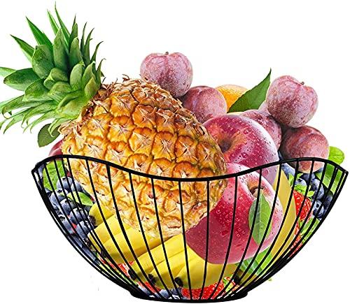 Xfahju Cestino Decorativo della Frutta della Maglia di stoccaggio, Verdure, Rack di Frutta del Metallo della Cucina, Decorazione del Tavolo da Interno ed Esterno