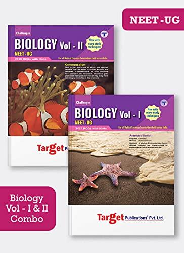 NEET UG Challenger Biology Books Vol 1 and 2