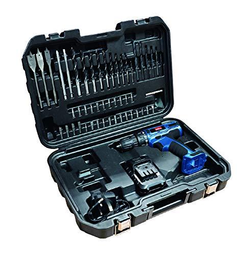 Hilka Tools PTLCD1850 18V Li-ion Cordless Drill/Driver with 50 Accessories, 18 V