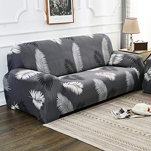 Urijk Sofabezug, Sesselbezug, dehnbar, elastisch, für 1-Sitzer, 2-Sitzer, 3-Sitzer, 4-Sitzer, mit Armlehne, bedruckt, Blumenmuster, dekorativ