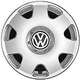 Volkswagen Original Polo Fox Tapacubos (4 Unidades) Juego Completo de 14 Pulgadas tapacubos Llantas de Acero Protectora Plata 6q0071454