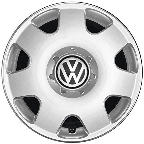 Volkswagen Original VW Polo Fox Radkappen (4 Stück) Komplettsatz 14 Zoll Radzierblenden Stahlfelgen Abdeckung Silber 6Q0071454