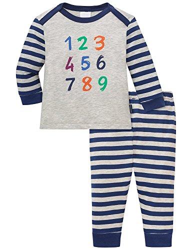 Schiesser Baby-Jungen Anzug 2-teilig Zweiteiliger Schlafanzug, Beige (Natur-Mel. 401), 68 (Herstellergröße: 068)
