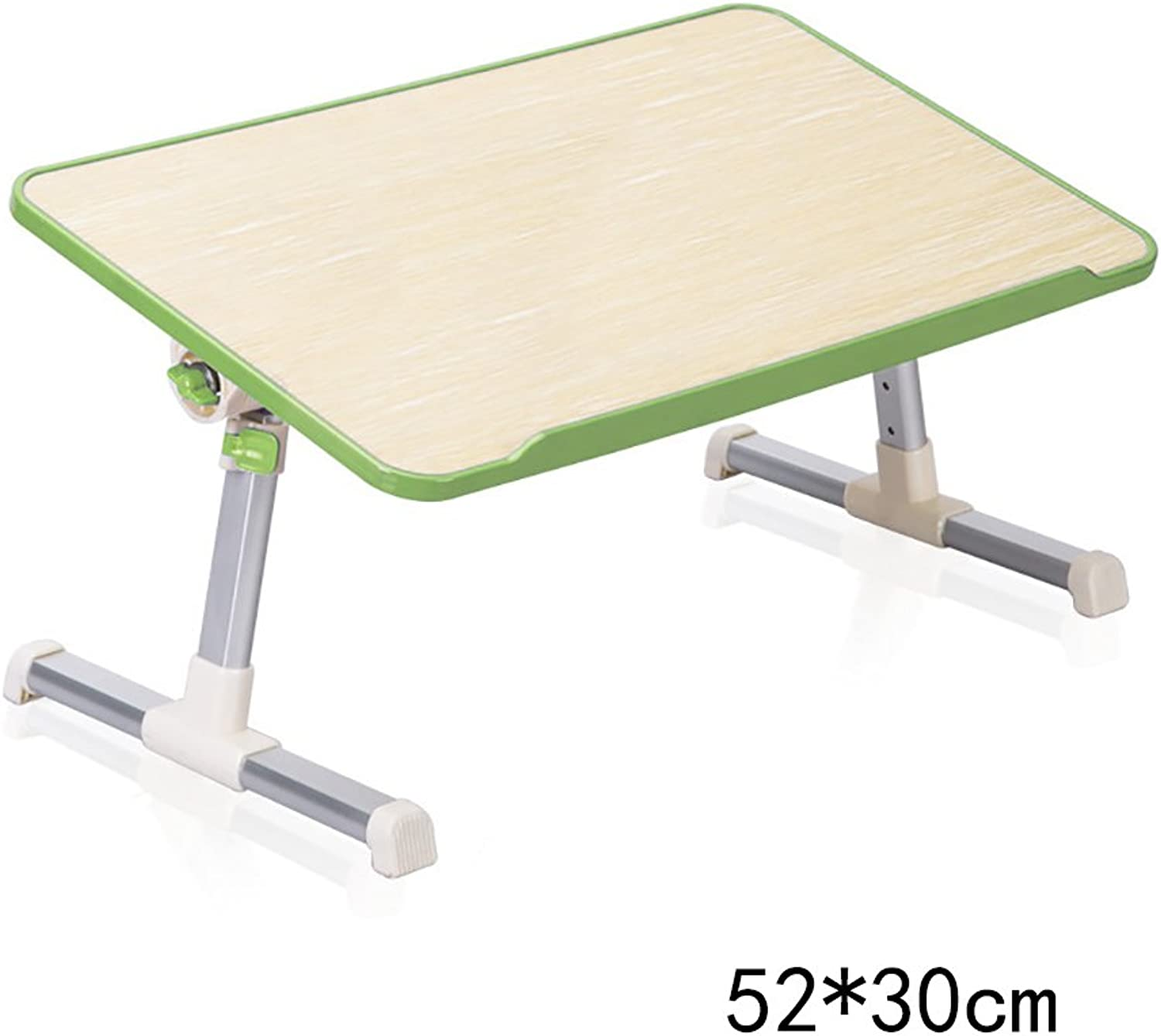 HAIPENG Laptop Tables Dormitory Learning Desk Simple Lazy Little Table Household Folding Tables with Radiator (3 colors, 2 Styles Optional Optional) (color   Green, Style   A)