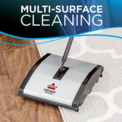 Bissell 92N0N Natural Sweep Kehrer, für Hartböden und Teppiche, kabellos, benötigt keinen Strom - 5