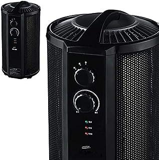 自然な温熱で空気を汚さず、暖める。 遠赤外線パネルヒーター 丸型 約6畳~8畳用 軽量 2段階調節可能。 エコ 省エネ 足元 縦型 パノラマヒーター コンパクト パネルヒーター マイカ ヒーター 安全設計 ブラック