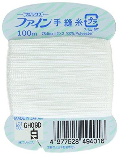 フジックス ファイン 【手縫い糸】 #40 100m col.401白