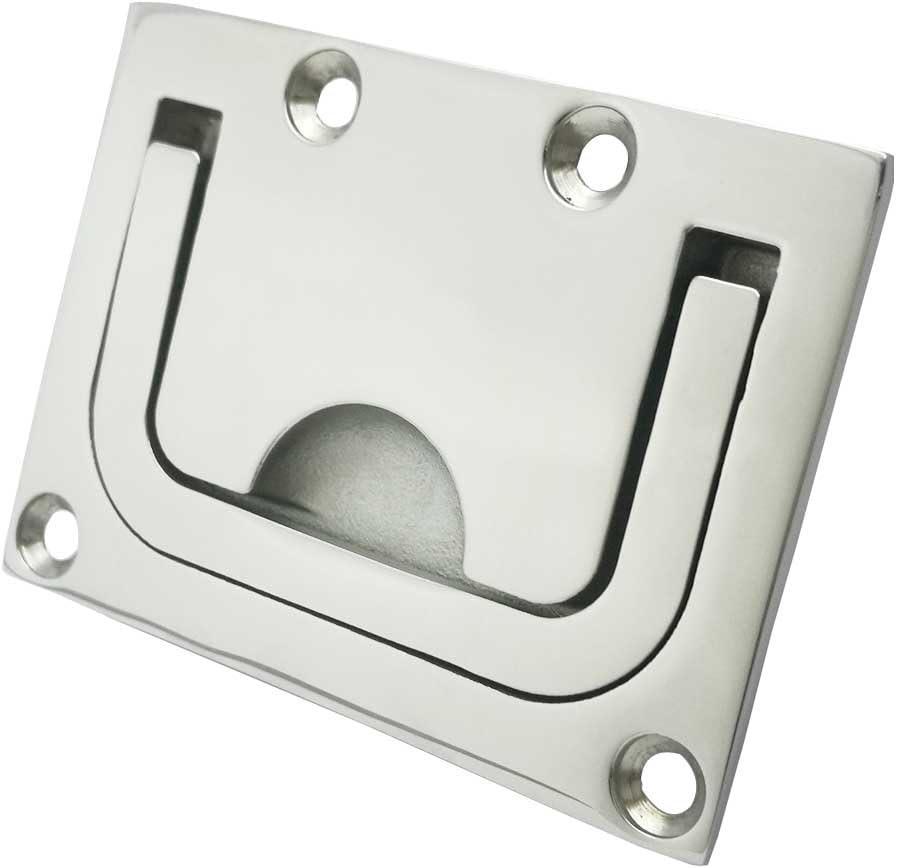 Smbbit 316 Stainless Steel Ring Pull Handle , Marine Flush Lifting Handle, Rectangular Grip