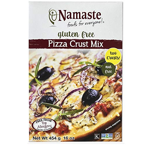 Namaste Foods, Gluten Free Pizza Crust Mix, 16-Ounce (Pack of 6) – Allergen-Free