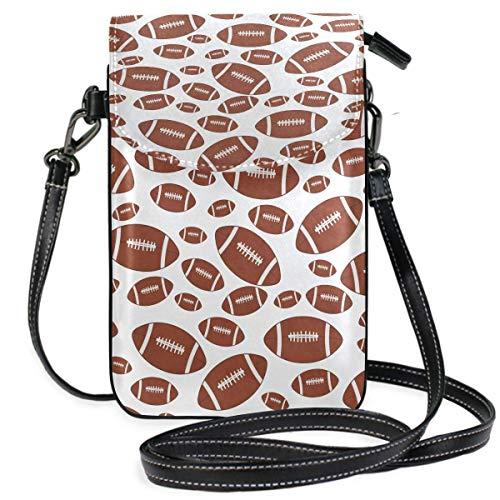 Monedero para teléfono celular, color marrón y blanco, baldosas, bolsa pequeña para teléfono celular, monedero para mujeres y niñas