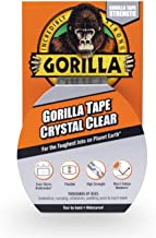 "Gorilla Crystal Clear Duct Tape, 1.88"" x 9 yd, Clear, (Pack of 1)"