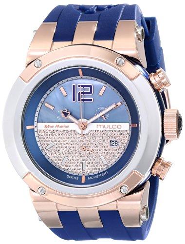 MULCO Reloj Unisex MW5-1621-043 con Pantalla analógica de Cuarzo Suizo Azul