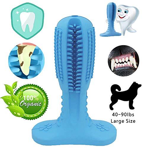 NUFOKG - Spazzolino da Denti per Cani, in Gomma Resistente, con setole per la Pulizia Dentale, per Cani di Taglia Media e Grande