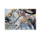 Vasily Kandinsky Pintor ruso Abstracto Art Poster Cuadro Sobre Vidrio Con Sol Póster Pintura Decorativa Lienzo Pared Arte de Sala Carteles Dormitorio Pintura 30x45cm