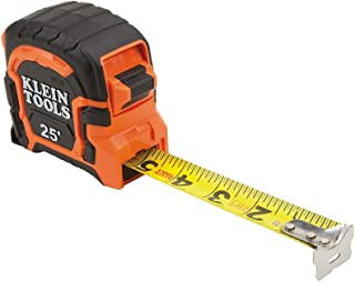 Tape Measure, 25-Foot Single Hook Non-Magnetic with Finger Brake, Easy to Read Bold Lines Klein Tools 86125