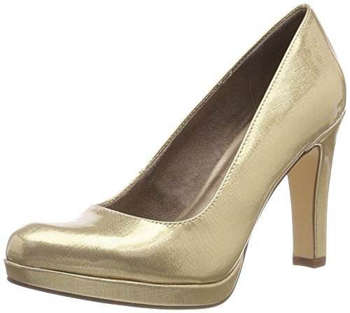 Tamaris Damen 22426-21 Pumps, Beige Metallic 405, 37 EU