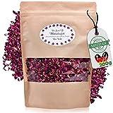 Die Gudn Confeti natural de flores rosa púrpura (100% biodegradable de pétalos secos de la rosa) para lanzar y decorar (confeti de decoración y boda) (rosa púrpura 200)