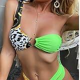 K -Youth Mujer High Waist Bikinis Set De Cintura Alta Push Up Traje De Baño Dos Piezas Aundado Acolchado Ropa De Baño