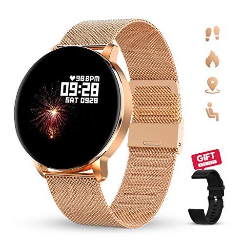 GOKOO Smartwatch 1.3 Zoll HD Voller-Touch Screen Damen Herren Intelligent Uhr IP67 Wasserdicht Fitness Tracker Schrittzähler Pulsuhren Schlafmonitor Frauen Männer Sportuhr für Android iOS