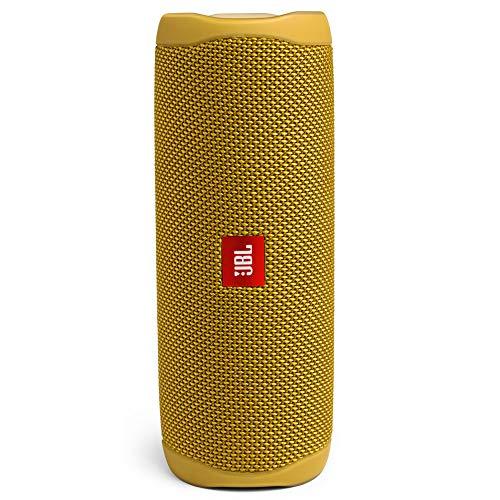 JBL Flip 5 – Enceinte Bluetooth Portable Robuste – Conception étanche pour Piscine & Plage – 12 Heures d'autonomie – Son Unique de JBL – Jaune
