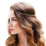 Fashband Boho Headchain Diadema de metal Banda para la frente Fantasy Crown Tiara Accesorio para el cabello de moda Festival Joyería para mujeres y niñas (plata)