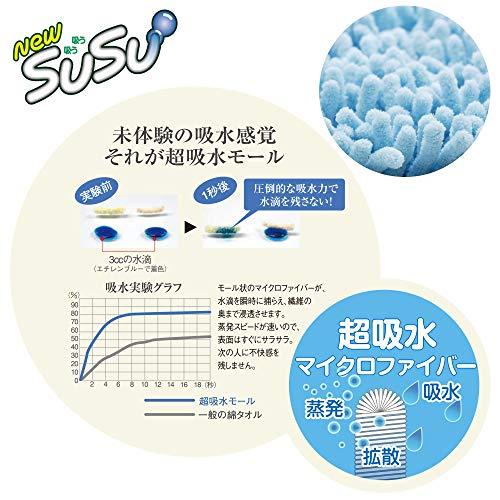 山崎産業(YamazakiSangyo)【特許取得済み】バスマット吸水マイクロファイバーSUSU(スウスウ)抗菌ピンクSサイズ36x50cm149360