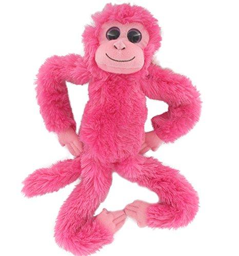 Aurora World 60198 - Hängender Chimpanse, Plüschtier, 19 Zoll, heiteres rosa