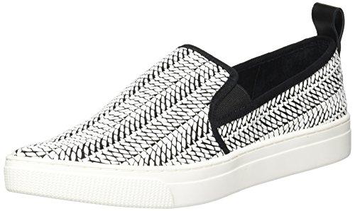 Dolce Vita Women's Geoff Sneaker, Black/White Raffia, 9.5 M US
