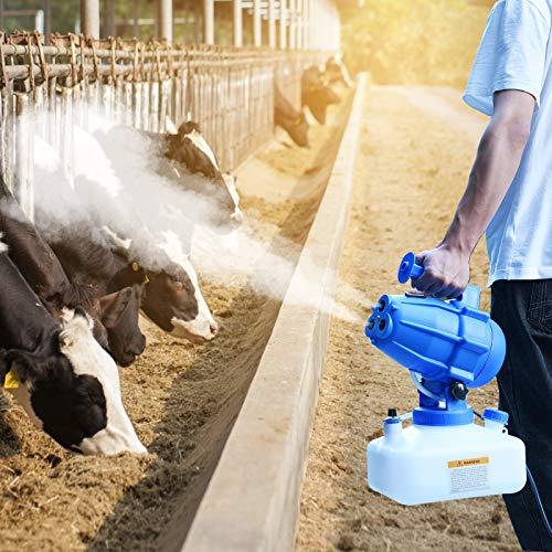 S SMAUTOP Nebulizzatore Disinfettante Ambienti, 5 Litri ULV Elettrico Nebulizzatore Portatile, ULV Fogger Nebulizzatore Applica a Aziende agricole, Piante da Riproduzione, Alberi da frutto