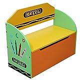 Kiddi Style Caja Juguetes y Banco para Niños - Madera -Diseño de ceras de...