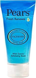 Pears Fresh Renewal Gentle Ultra Mild Daily Cleansing Facewash, Ph Balanced, 100% Soap Free, With Exfoliating Beads, Cooli...