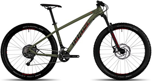 Ghost ROKET 5 AL 27.5R+ Mountain Bike 2017 (Army Green/Night Black/Riot red, M/42cm)