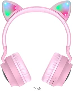 Game Led Bluetooth Headset Girl Headset Mobile Phone Music Pc Laptop Computer Child Headset Tf Card 3.5Mm Microphone Plug Wireless Wired Dual-Use