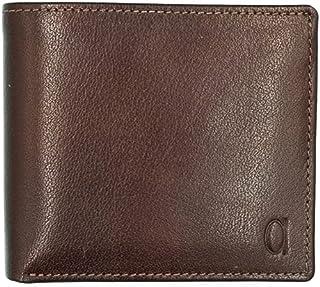 محفظة جلد مربعة بطبقتين بشعار امامي للرجال من الفا ليذر كو