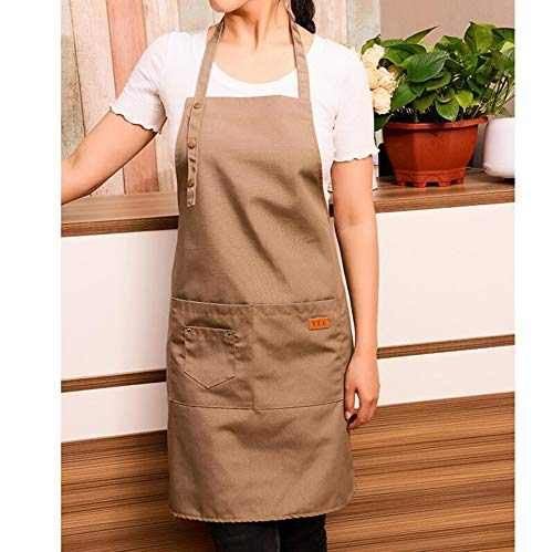 Schort Unisex schort, met zakken - denim kookschorten voor grill, bakker, manicure, keuken, thee tube, Coffeeshop-Overall, aanpasbaar logo C