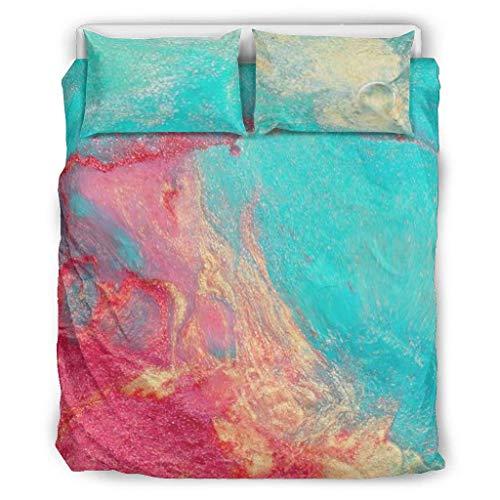 LIFOOST Juego de ropa de cama de jaspeado ultrasuave, juego de ropa de cama de 3 piezas, para dormitorio infantil, color blanco, 168 x 229 cm