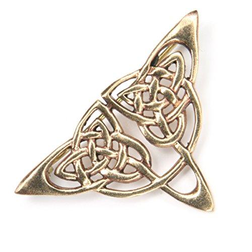 Brosche Schmuck Bronze Keltisches Dreieck Knotenmuster, Länge: 4cm