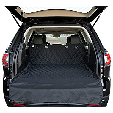 Arf Pets Cargo Liner Cover For SUVs and Cars, Waterproof Material, Non Slip Backing, Extra Bumper Flap Protector, Large Size - Universal Fit