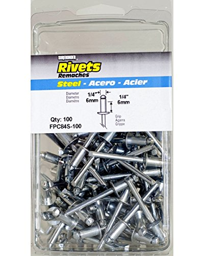 Surebonder FPC84S-100 1/4-inch Steel Short Rivets (100 per Box)