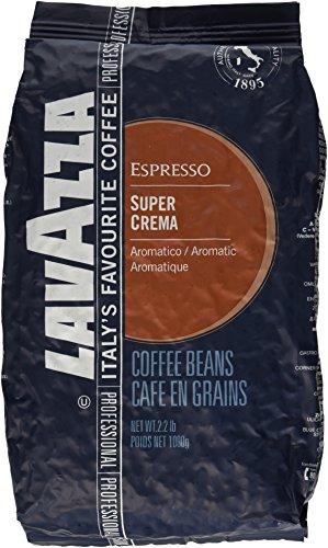 Lavazza Kaffee Espresso Super Crema, ganze Bohnen, Bohnenkaffee, 1000g