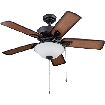 Portage Bay 51449 Viretta Ceiling Fan, 42, Black