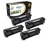 CatchSupplies reemplazo Q2612A Cartucho de tóner Negro 4 Pack para la serie HP 12A   2.000 rendimiento   compatible con la impresora HP LaserJet 1010, 1012, 1015, 1018, 1020, 1022, 3015, 3020, 3030, 3050, 3055