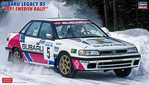 Hasegawa-1/24 Subaru Legacy RS, 1991 Swedish Rally Maqueta de plástico. (620432)